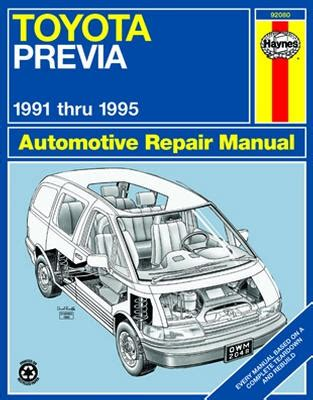 auto manual repair 1997 toyota previa electronic toll collection 1997 toyota previa engine removal