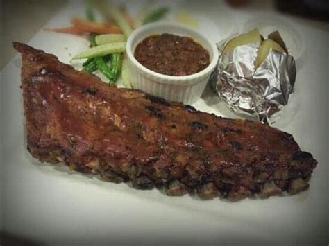 Half Rack Of Baby Back Ribs by Half Rack Baby Back Ribs W Baked Potato And Beans