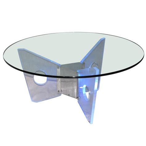 illuminated coffee tables illuminated lucite coffee table circa 1970 for sale at
