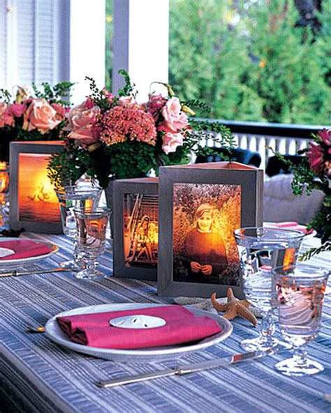 picture frame centerpiece ideas photo centerpiece martha stewart