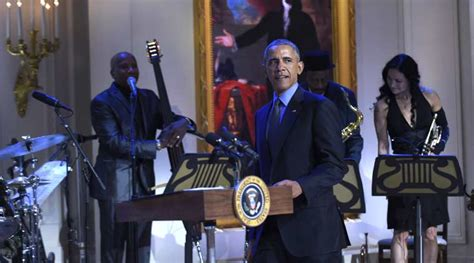 white house musical performances barack obama sways to jazz and blues at white house concert the indian express