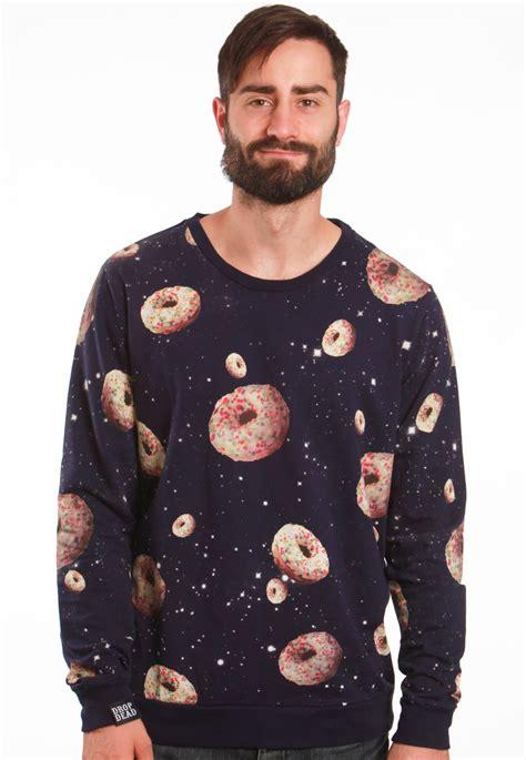 drop dead space donuts navy sweater streetwear