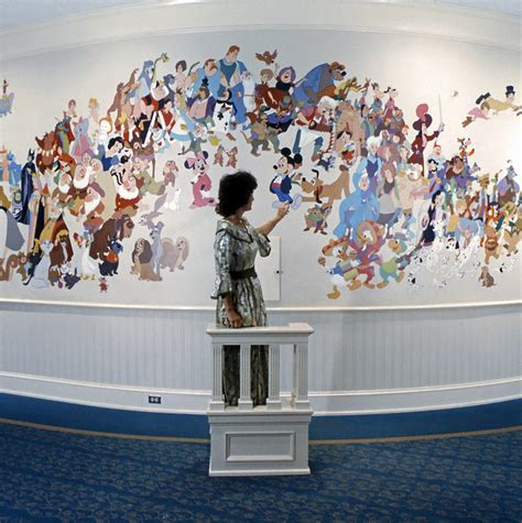 disney wall mural mural of walt disney characters u s a walt disney world pana vue slides