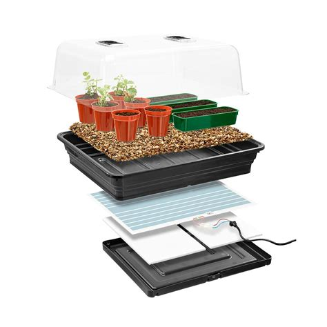 Planters Electric by Thermostatic Electric Propagator Mini Greenhouse
