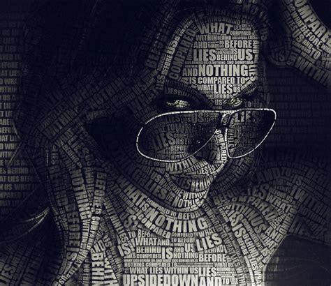 typography portrait tutorial photoshop cs6 10 great exles of typography art