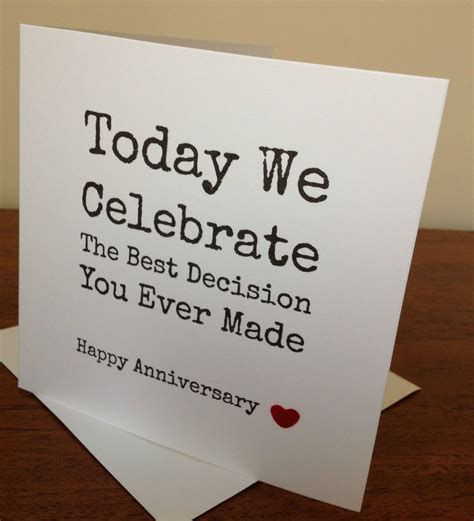 Handmade Anniversary Gifts For - handmade husband anniversary card