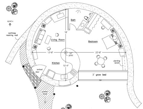 organic floor plan organic free form earthbag house plans