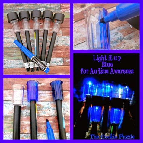 Make Your Own Autism Awareness Solar Lights Or Choose A Make Your Own Solar Light