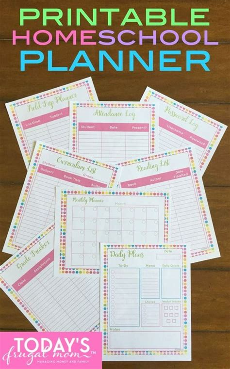 printable homeschool daily planner 24 free printable planning resources for busy moms