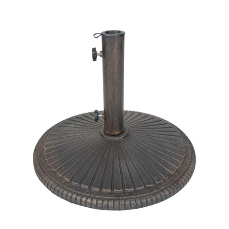 Home Decorators Collection Classic Market 50 Lb Cast Iron Patio Umbrella Stand Base