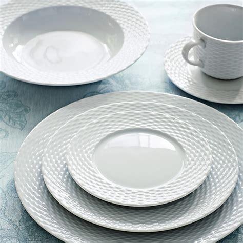 place settings pillivuyt basketweave dinnerware place settings williams