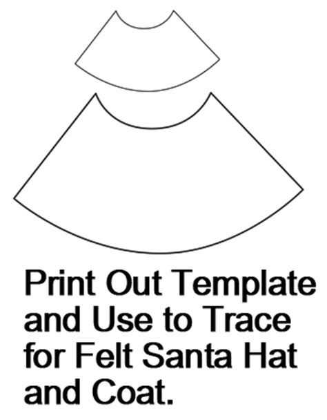 How To Make A Santa Hat Out Of Paper - santa claus hat outline new calendar template site