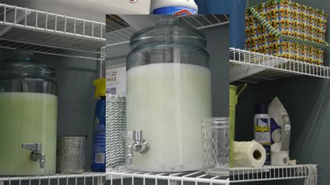 laundry storage containers repurpose a beverage dispenser into diy laundry detergent