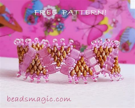 Crown Bead Bracelet free pattern for bracelet princess crown magic