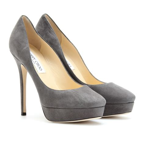 jimmy choo grey platform wedding pumps wedding shoes
