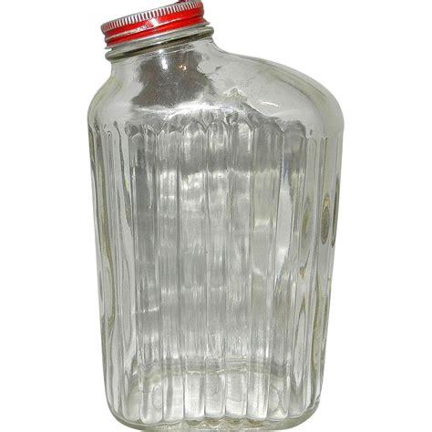 ls out of bottles vintage ribbed refrigerator water bottle or jar from