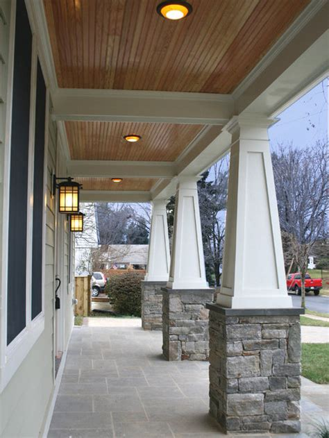 stained porch ceiling houzz