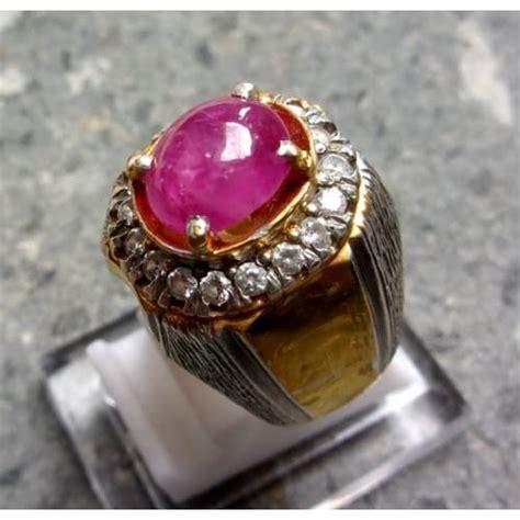 cincin mustika merah delima pusaka dunia