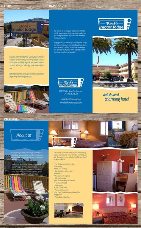 designcrowd san francisco masculine colorful brochure design for becks motor lodge