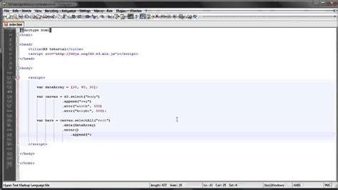 tutorial republic javascript d3 js tutorial 4 visualizing data youtube