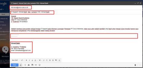 format mengirim surat lamaran kerja lewat email cara mengirim surat lamaran lewat email 2