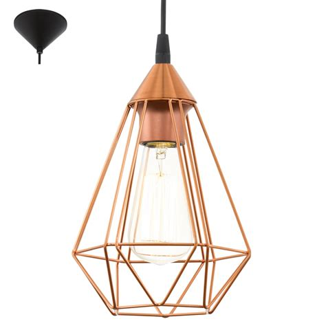 eglo pendant light eglo 94193 tarbes 1 light ceiling pendant copper