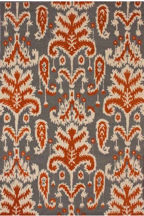 Orange Ikat Rug by Santa Verden Ikat Smoke Rug Eclectic Rugs By