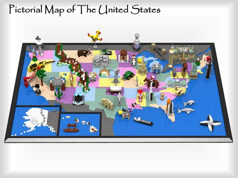 us map project ideas lego ideas pictorial map of the united states