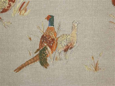 Upholstery Fabric Clearance Pheasants 100 Cotton Fabric Curtain Fabric
