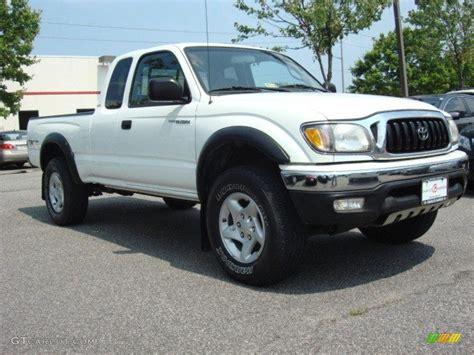 2003 Toyota Tacoma Xtracab White 2003 Toyota Tacoma V6 Trd Xtracab 4x4 Exterior