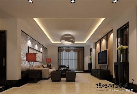 Ceiling Decor Ideas Australia | 挑高复式客厅石膏吊顶设计 土巴兔装修效果图