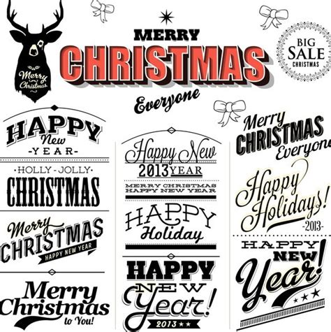 happy new year in font free merry happy new year text styles vector