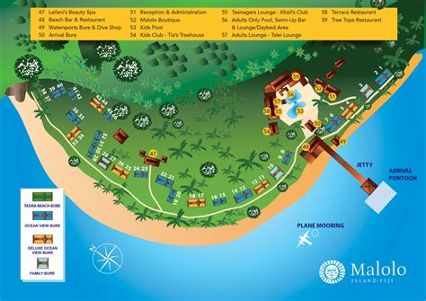 resort map maps malolo island resort fiji