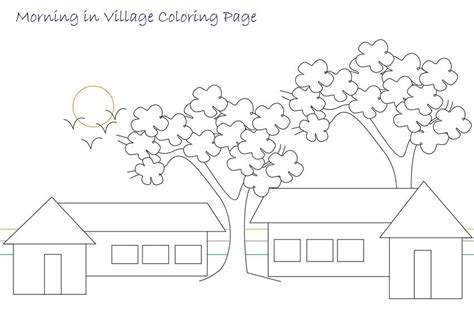 the gallery for gt village scenery drawing for children