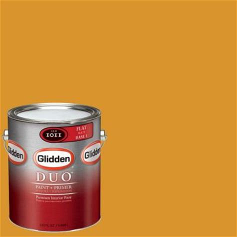 glidden team colors 1 gal nfl 179d nfl pittsburgh steelers gold flat interior paint and primer