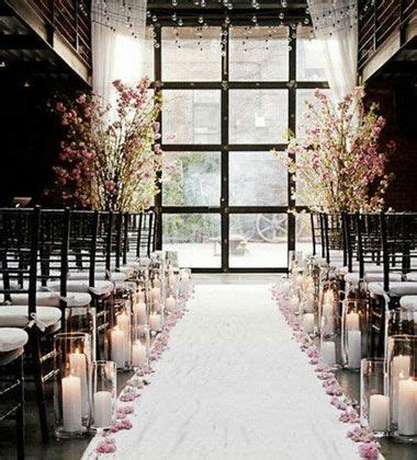 Wedding Aisle Decorations On A Budget by Winter Wedding Ideas Candlelit Aisle Click Pic For 25