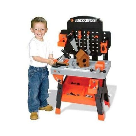black and decker kids work bench my family fun black and decker jr power workshop workbench includes electric