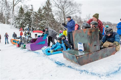 sled race winterfest cardboard sled race winterfest grand mi
