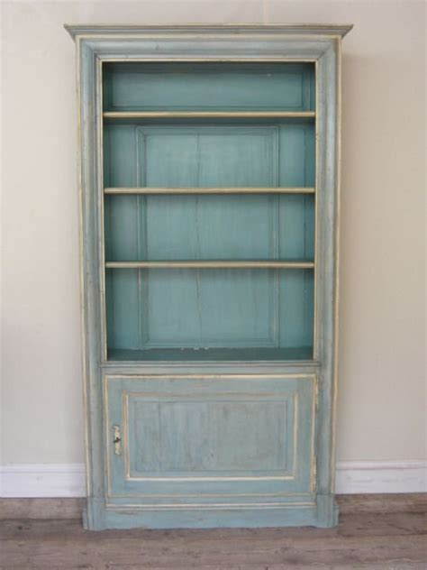 an outstanding painted bookcase of louis xv style