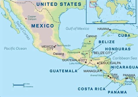 map of mexico and america route information part 5 mexico and central america