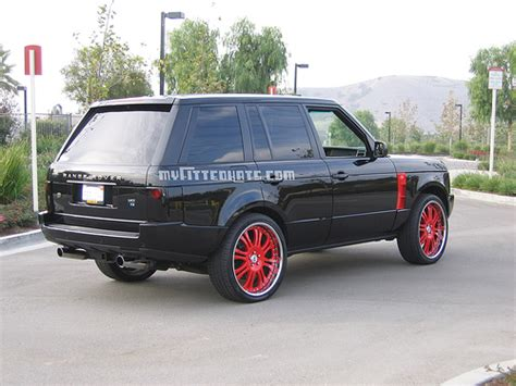 range rover modified red ryan sheckler in a custom range rover celebrity cars blog