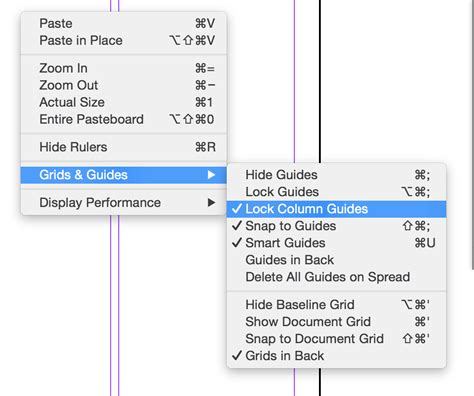 indesign creating guides adobe indesign column guides are unlocked but i still