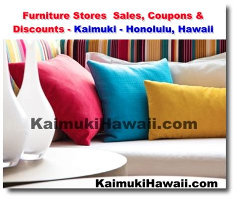 honolulu furniture stores sales discount coupons kaimuki