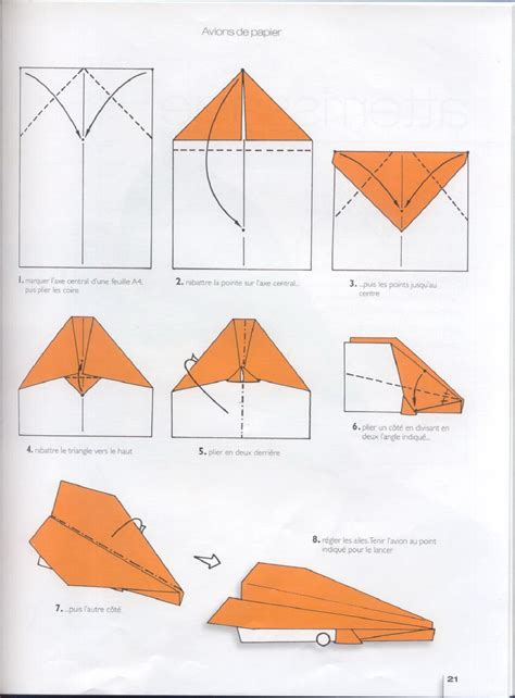 Papercraft Models For Beginners - origami avion paper papiers origami schemes of paper