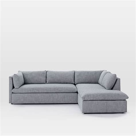 west elm shelter sofa review shelter 2 piece terminal chaise sectional west elm