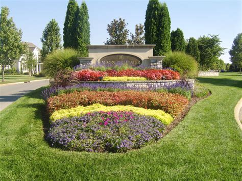 Landscape Design Around Signs Nashville Subdivision Entrances Landscaping