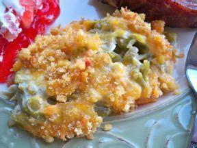 green bean casserole  ritz cracker topping recipe