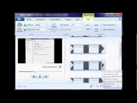 windows live movie maker tutorial trim tool how to cut a clip in windows live movie maker youtube