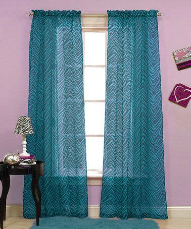 black and teal curtains beatrice home teal black zebra voile rod pocket curtain