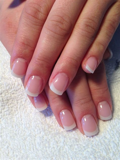 Perfect French gel nails full sculpted. Wedding Nails
